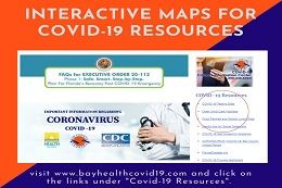 Covid-19 interactive map flyer